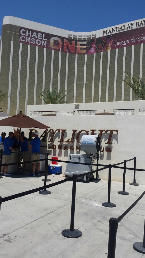 Misting Units cooling at Daylight Day Club at Mandalay Bay